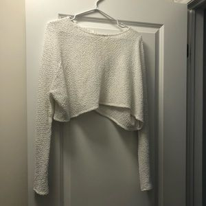 BOGO ☺️ White crop top pink martini sweater